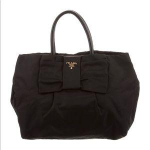 Prada Tessuto Fiocco Bow Tote Bag